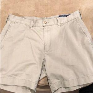 """Great classic khaki tan pants polo size 34"""" cotton"""
